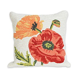 Liora Manne Icelandic Poppies Square Throw Pillow in Natural