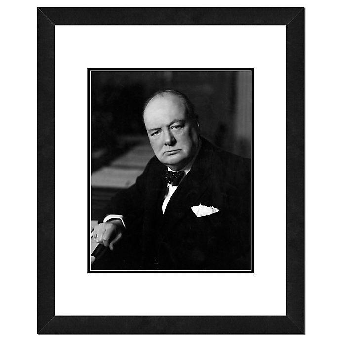 Alternate image 1 for Photo File Winston Churchill 22-Inch x 26-Inch Framed Photo Wall Art