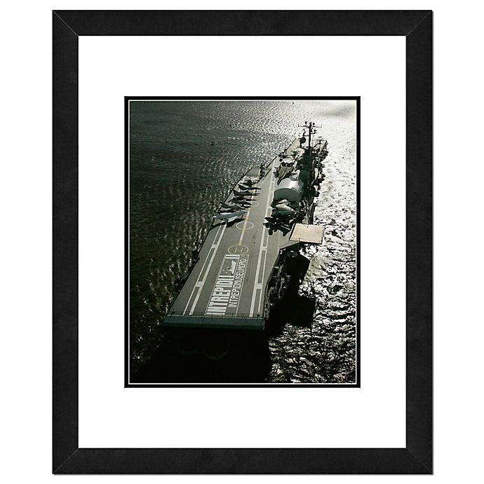 Alternate image 1 for Photo File USS Intrepid 18-Inch x 22-Inch Framed Photo Wall Art