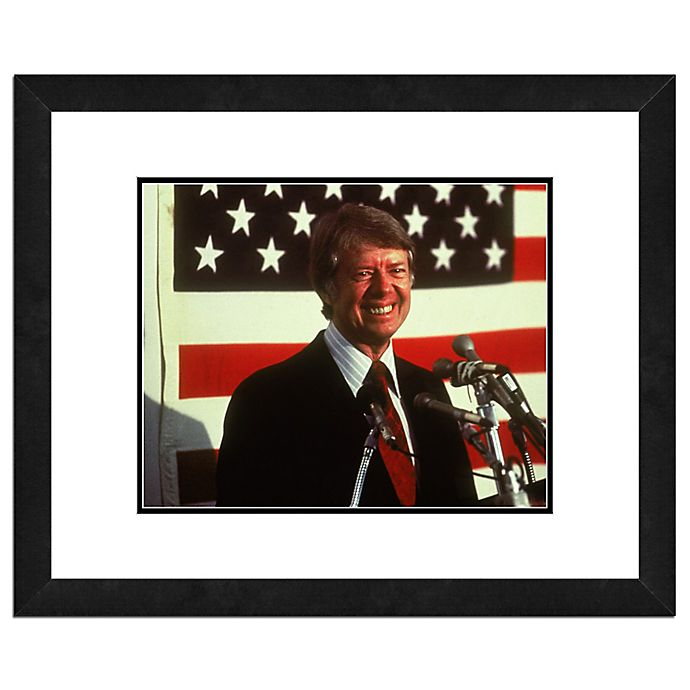 Alternate image 1 for Photo File Jimmy Carter 22-Inch x 26-Inch Framed Photo Wall Art