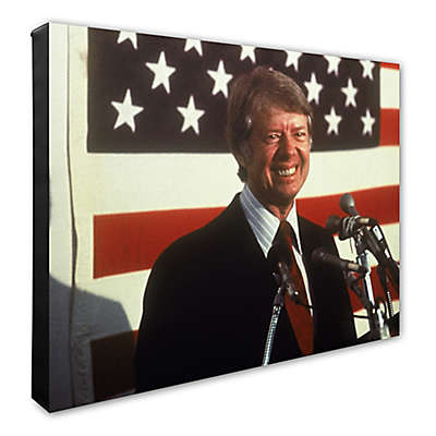 Photo File Jimmy Carter 16-Inch x 20-Inch Canvas Photo Wall Art