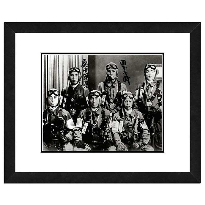 Alternate image 1 for Photo File Kamikaze Pilots 22-Inch x 26-Inch Framed Photo Wall Art