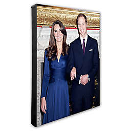 Princess Kate and William Engagement 16-Inch x 20-Inch Canvas Wall Art