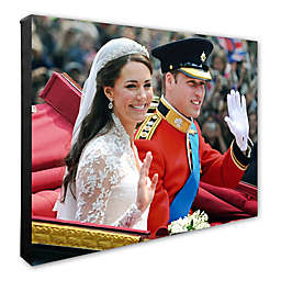 Princess Kate and William Wedding 16-Inch x 20-Inch Canvas Wall Art