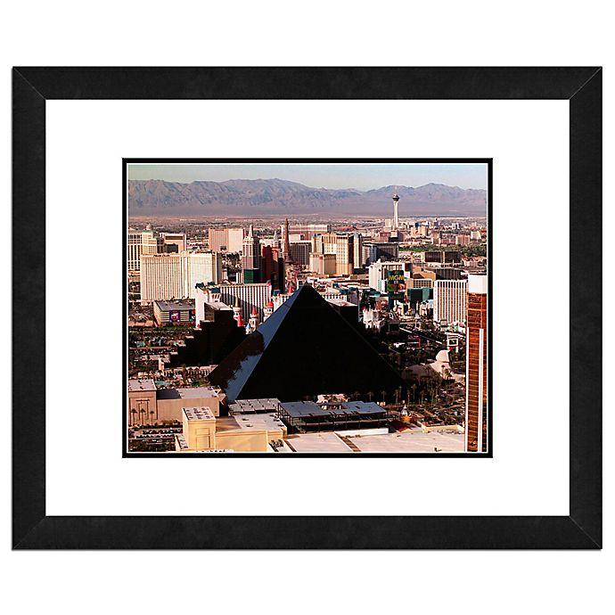 Alternate image 1 for Photo File Las Vegas Skyline 18-Inch x 22-Inch Framed Photo Canvas Wall Art