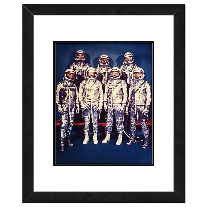 Alternate image 1 for Photo File Mercury Astronauts 22-Inch x 18-Inch Framed Photo Wall Art