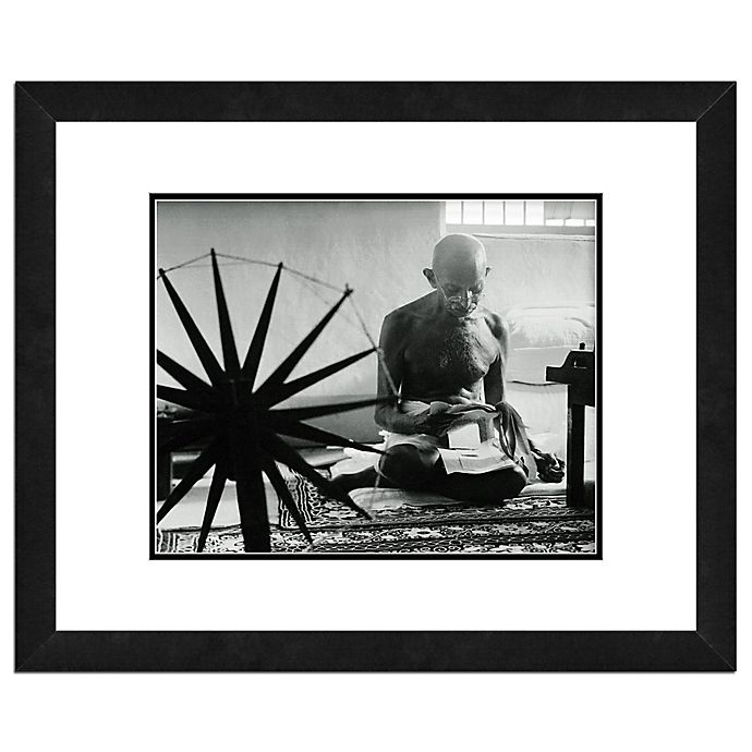 Alternate image 1 for Photo File Mohandas Gandhi 18-Inch x 22-Inch Framed Photo Wall Art