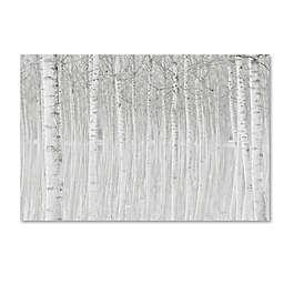Trademark Fine Art 49-Inch x 37-Inch Trees Canvas Wall Art