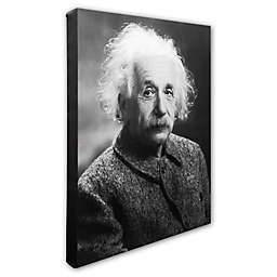 Trademark Fine Art 16-Inch x 20-Inch Albert Einstein Photo Canvas Wall Art
