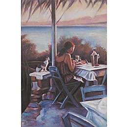 Café Days 31-Inch x 47-Inch Canvas Wall Art