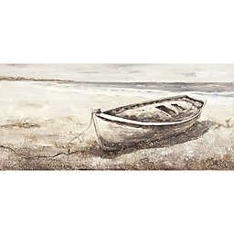 Boat on the Beach 59.1-Inch x 27.6-Inch Canvas Wall Art