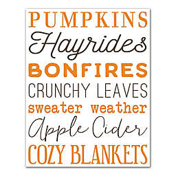 Designs Direct  Best of Fall 14-Inch x 11-Inch Canvas Wall Art