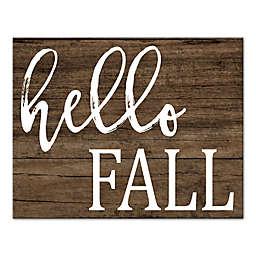 "Designs Direct ""Hello Fall"" 11-Inch x 14-Inch Canvas Wall Art"