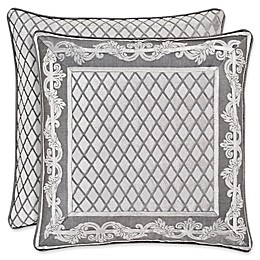 J. Queen New York™ Bel Air Square Throw Pillow in Silver