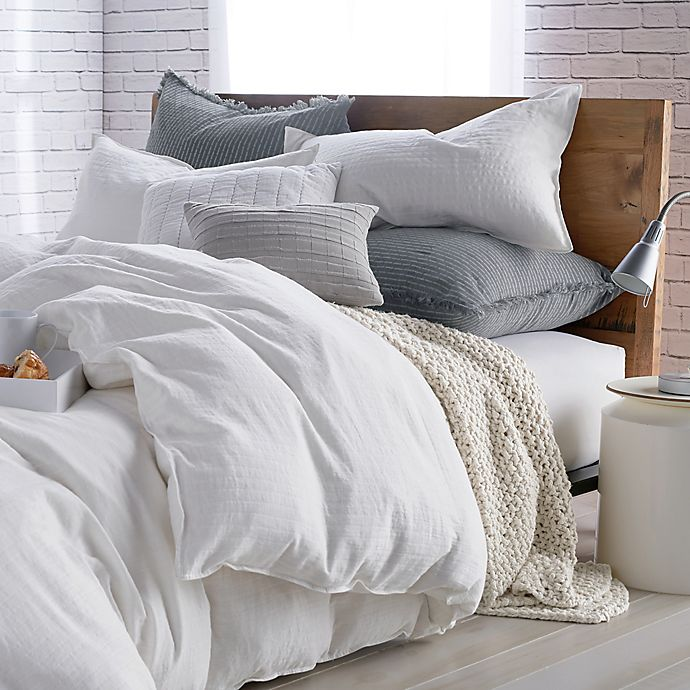 Alternate image 1 for DKNYpure® Comfy Full/Queen Duvet Cover in White