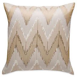 Frette At Home Cervino Embroidered Square Throw Pillow in Stone