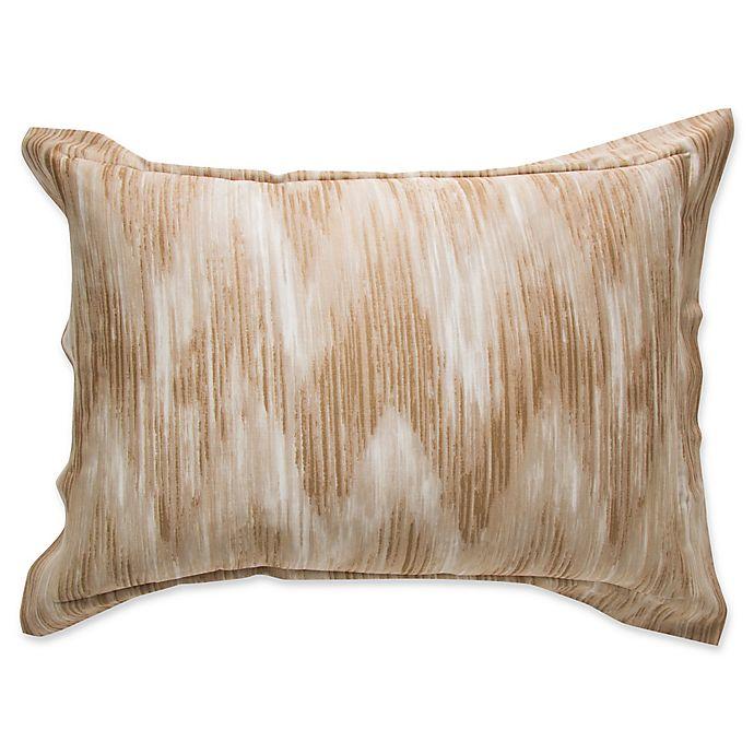 Alternate image 1 for Frette At Home Cervino Standard Pillow Sham in Stone