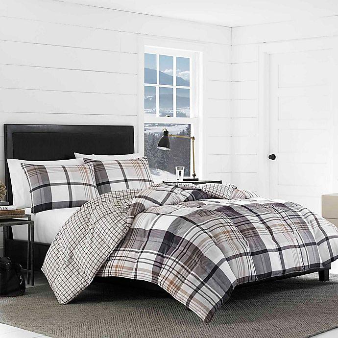 Alternate image 1 for Eddie Bauer® Normandy Plaid Reversible Comforter Set