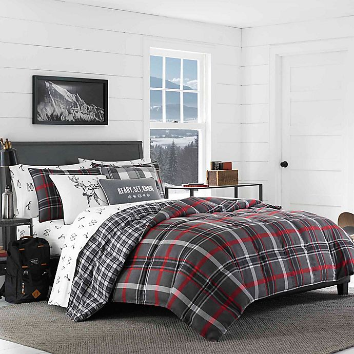 Alternate image 1 for Eddie Bauer® Willow Plaid Flannel Comforter Set