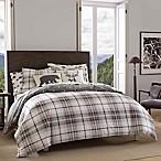 Eddie Bauer® Alder Plaid Full/Queen Reversible Comforter Set in Black