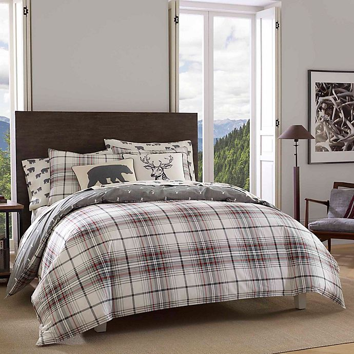 Alternate image 1 for Eddie Bauer® Alder Plaid Reversible Comforter Set