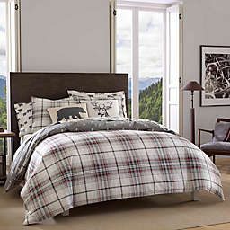Eddie Bauer® Alder Plaid Twin Reversible Comforter Set in Black