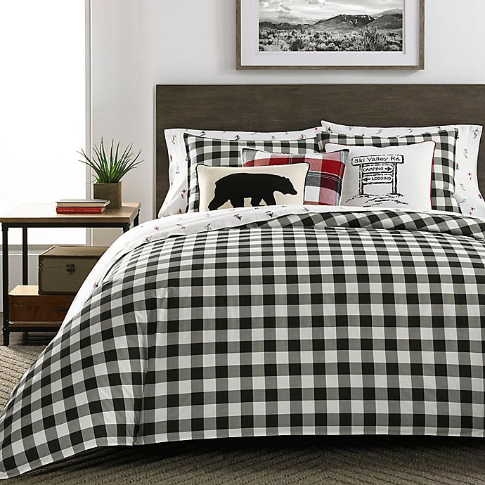 Alternate image 1 for Mountain Plaid Comforter Set in Black