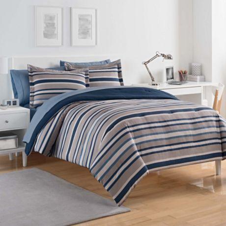 Izod 174 Bradley Stripe Comforter Set Bed Bath Amp Beyond