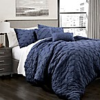Lush Décor Ravello 5-Piece King Comforter Set in Navy