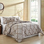 VCNY Home Aria Medallion 5-Piece Full/Queen Comforter Set in Taupe