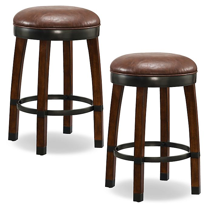 Brilliant Leick Home Wood Cask Stave Swivel Counter Stools In Brown Dailytribune Chair Design For Home Dailytribuneorg