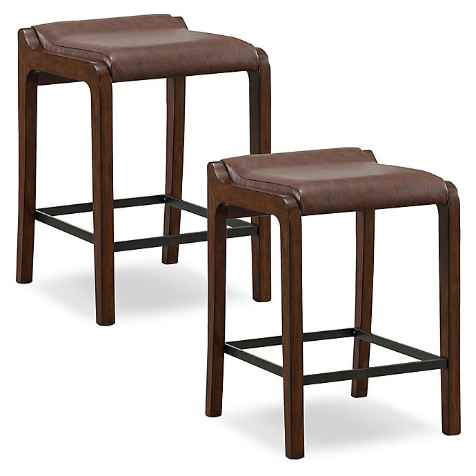 Leick Home Fastback Counter Stools In Grey Set Of 2