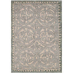 Safavieh Cambridge Lindsey 3' x 5' Hand-Tufted Accent Rug in Dusty Blue/Cement
