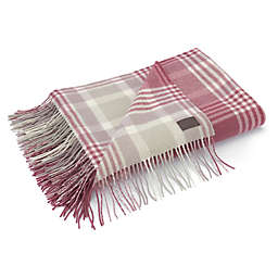 UGG® Charger Plaid Wool Throw Blanket in Sienna