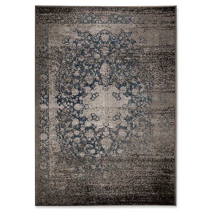 Alternate image 1 for Ren-Wil Azure Medallion 5-Foot 2-Inch x 7-Foot 2-Inch Area Rug in Grey/Blue