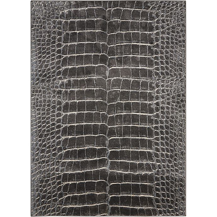 Alternate image 1 for Nourison Maxell Machine Woven Rug in Charcoal