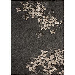 Nourison Maxell Machine Woven Rug in Charcoal