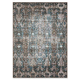 Nourison Karma Machine Woven Rug in Blue