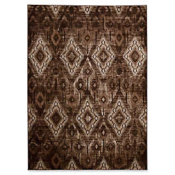 Nourison Karma Machine Woven Rug in Beige