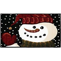 Brumlow Mills® Midnight Snowman Accent Rug in Dark Blue
