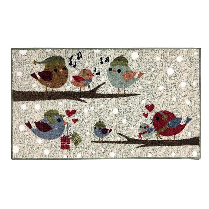 Alternate image 1 for Brumlow Mills Festive Birds 2-Foot 6-Inch x 3-Foot 10-Inch Accent Rug in Opal