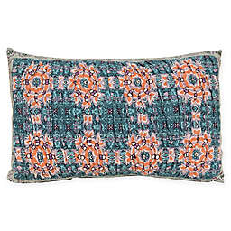Amrita Sen Jaisalmer Oblong Throw Pillow in Turquoise