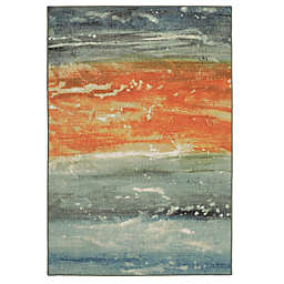Mohawk Home®  Aurora Abstract Seascape 7-Foot 6-Inch  x 10-Foot Area Rug in Blue