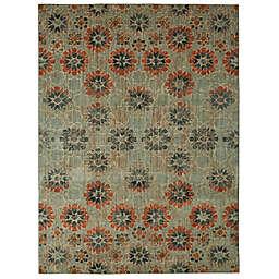 Patina Vie by Karastan 8' x 10' In Bloom Area Rug in Turquoise