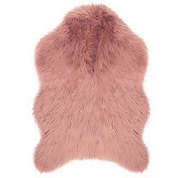 Jean Pierre Faux Fur 2 4 X Accent Rug In Blush