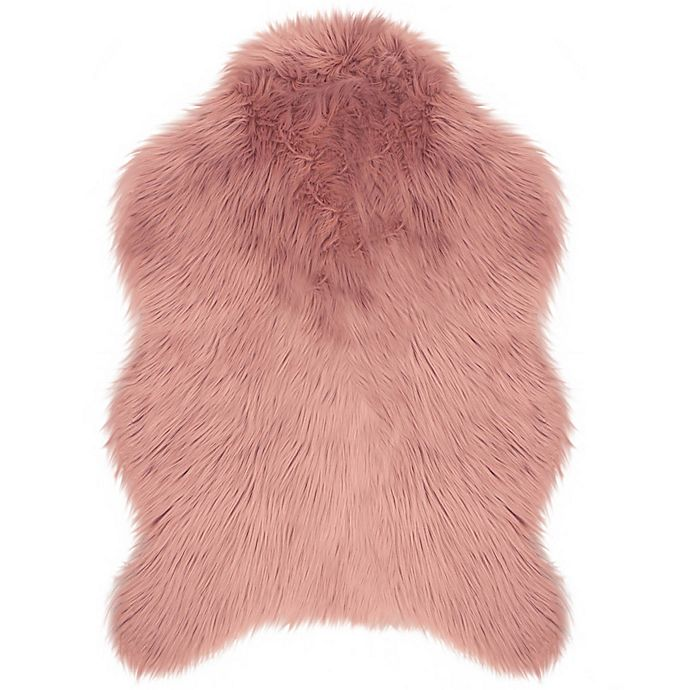 Alternate image 1 for Jean Pierre Faux Fur 2' x 3' Accent Rug in Blush