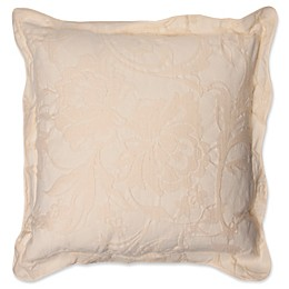 Belgravia Floral Square Throw Pillow in White