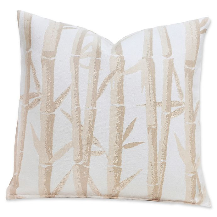 Alternate image 1 for Revolution+ Anji Garden 20-Inch Square Throw Pillow in Beige/Silver