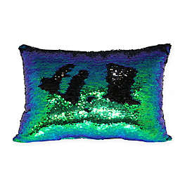 Mermaid Sequin Throw Pillow in Green/Blue