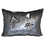 Mermaid Sequin Throw Pillow in Pewter Silver